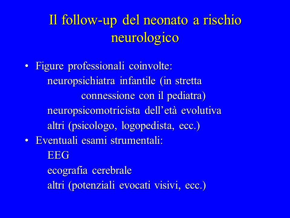 Il follow-up del neonato a rischio neurologico