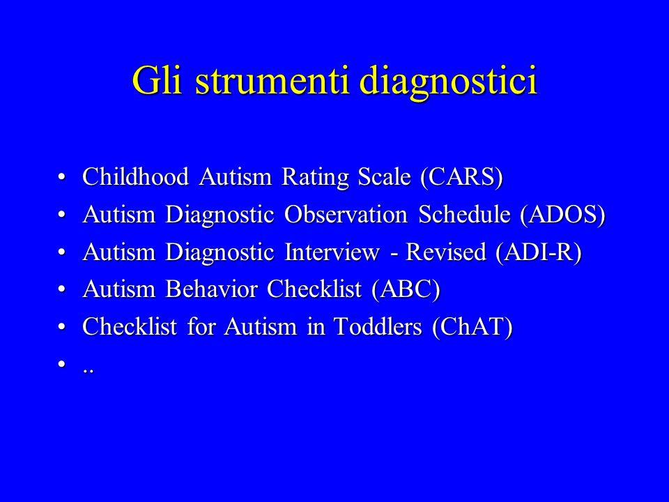 Gli strumenti diagnostici