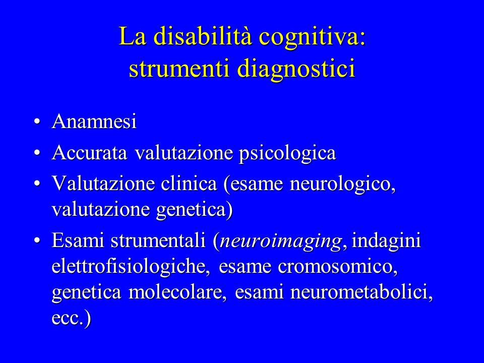 La disabilità cognitiva: strumenti diagnostici