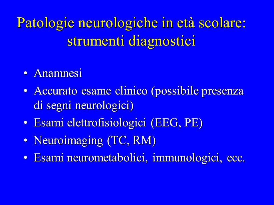 Patologie neurologiche in età scolare: strumenti diagnostici