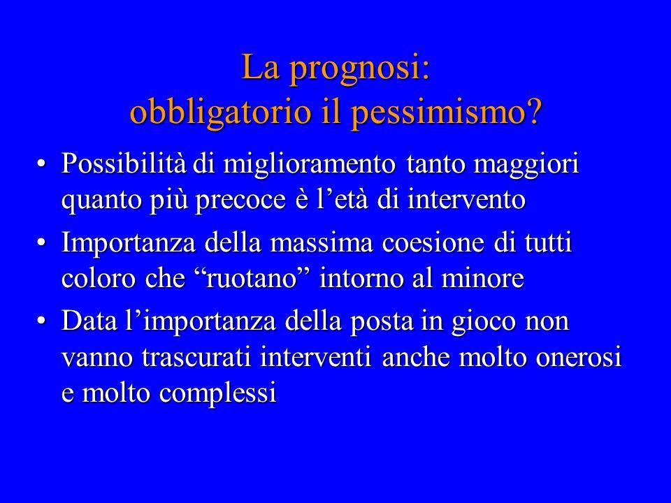 La prognosi: obbligatorio il pessimismo