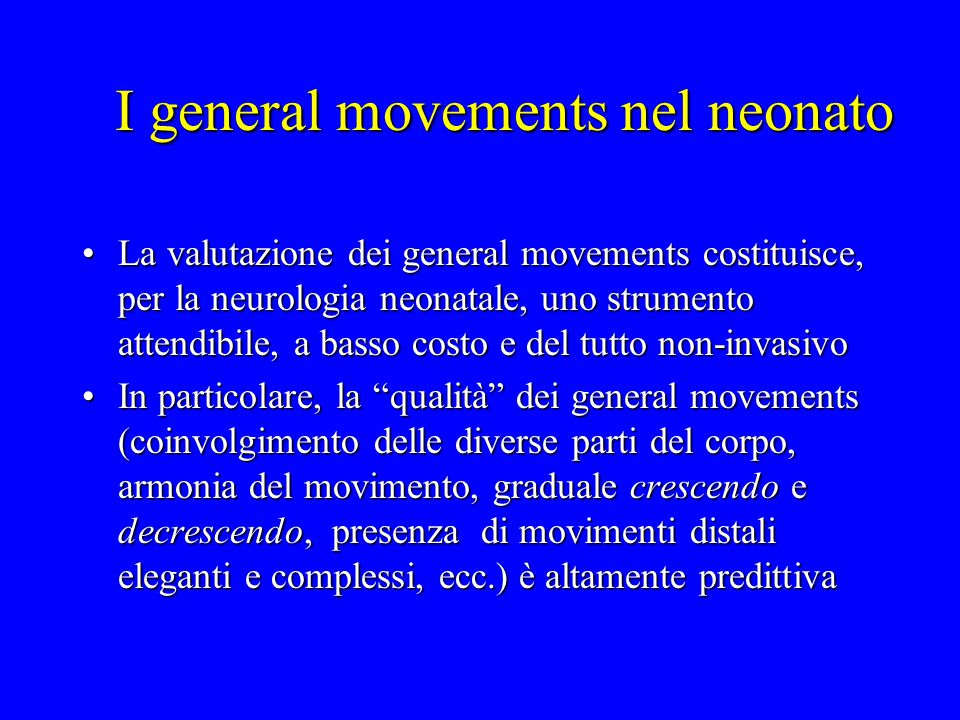 I general movements nel neonato