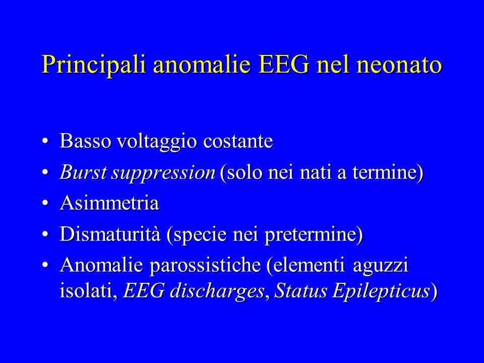 Principali anomalie EEG nel neonato