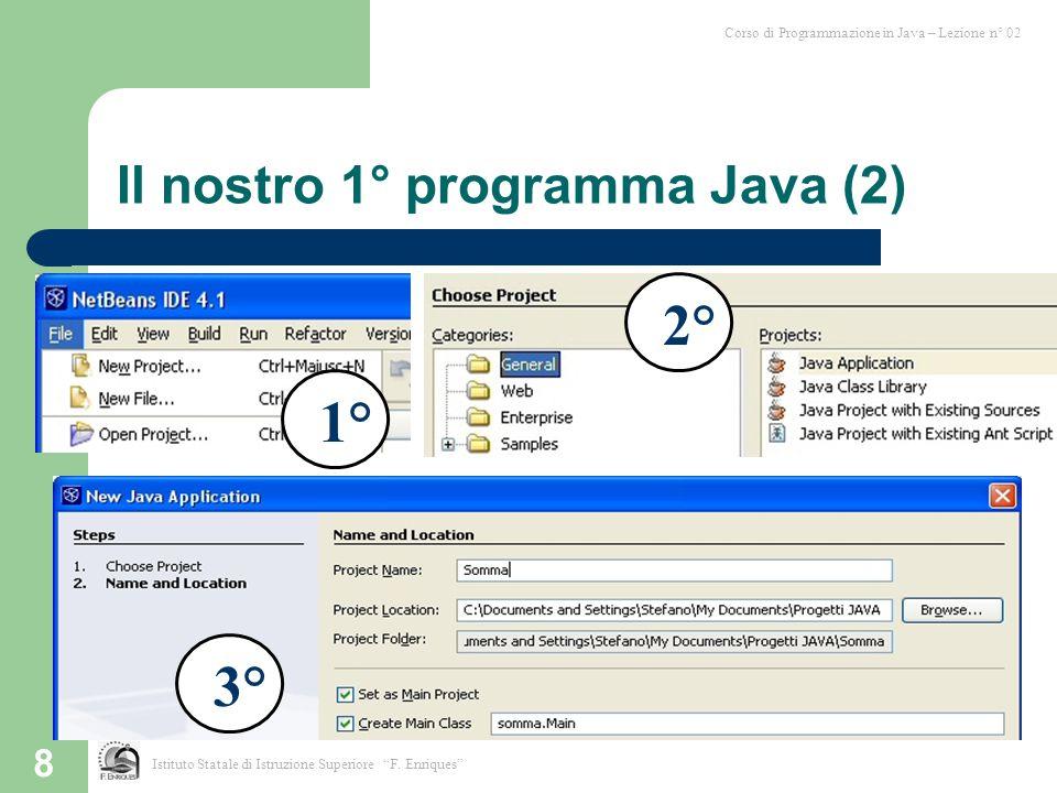 Il nostro 1° programma Java (2)