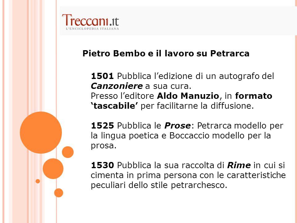 Pietro Bembo e il lavoro su Petrarca
