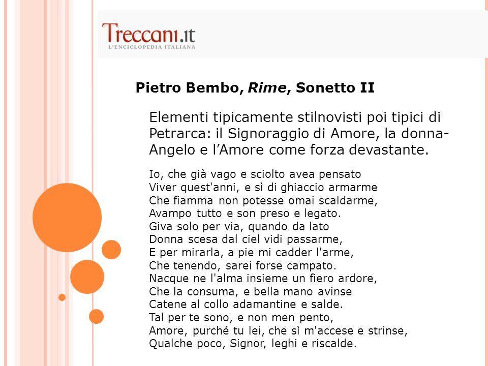 Pietro Bembo, Rime, Sonetto II