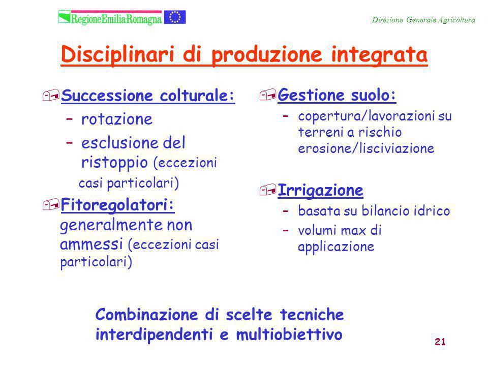 Disciplinari di produzione integrata