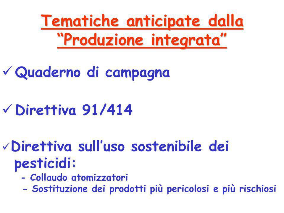 Tematiche anticipate dalla Produzione integrata