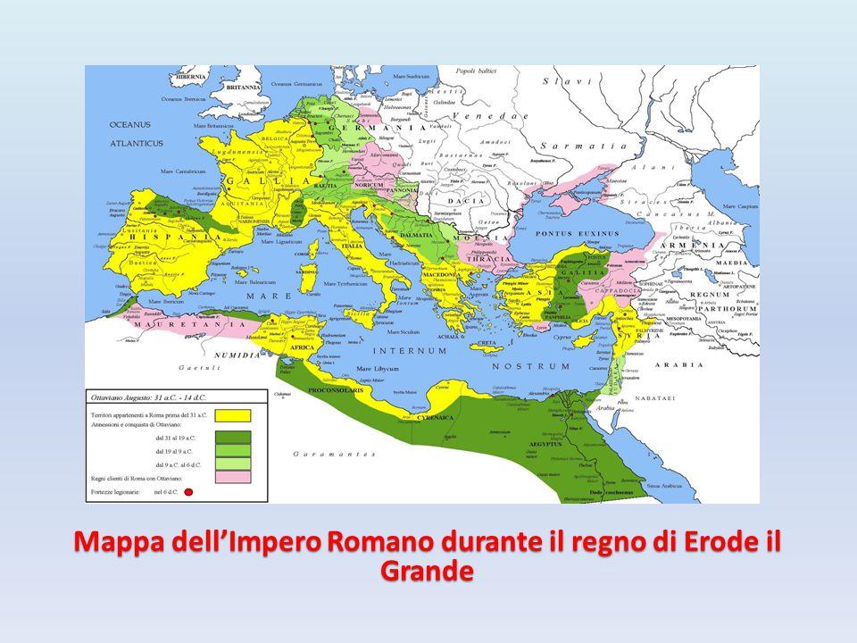 Mappa dell'Impero Romano durante il regno di Erode il Grande