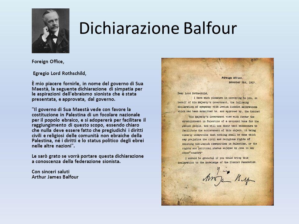 Dichiarazione Balfour