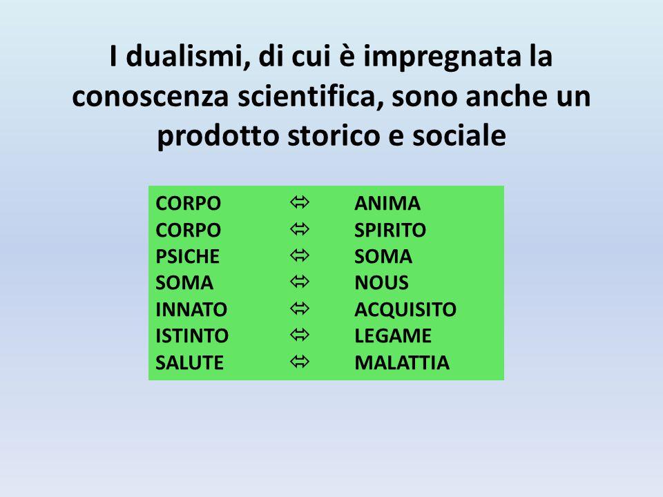 I dualismi, di cui è impregnata la conoscenza scientifica, sono anche un prodotto storico e sociale