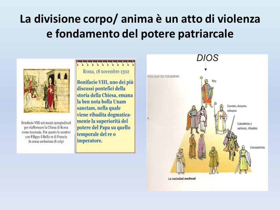 La divisione corpo/ anima è un atto di violenza e fondamento del potere patriarcale