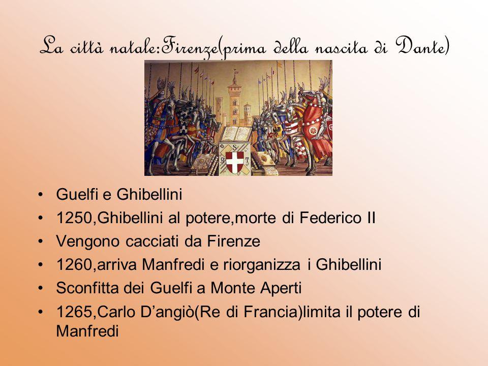 La città natale:Firenze(prima della nascita di Dante)