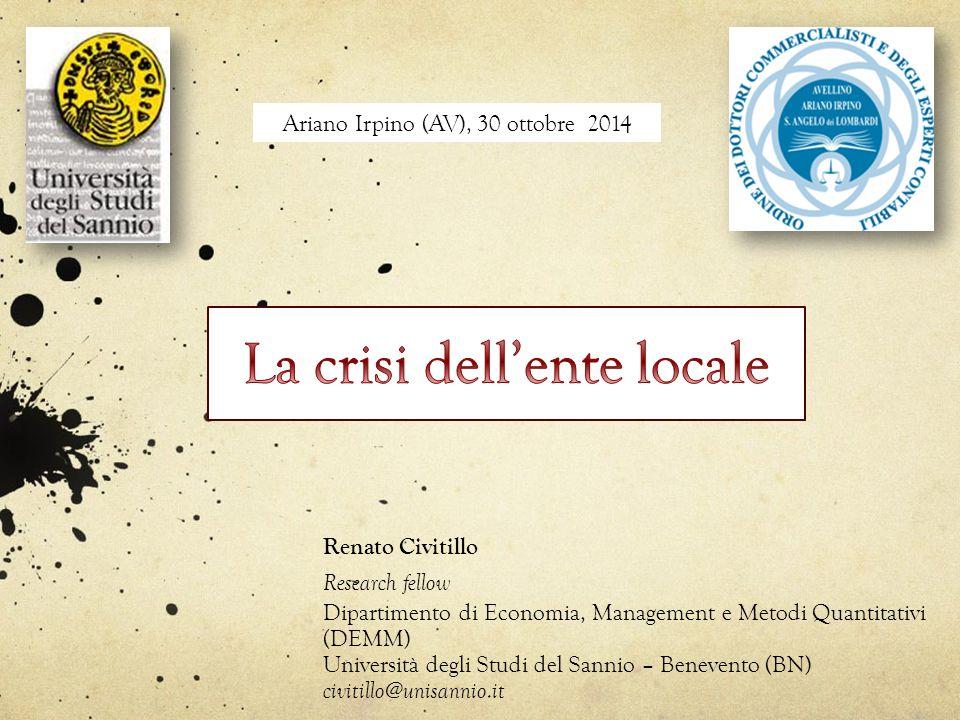 La crisi dell'ente locale
