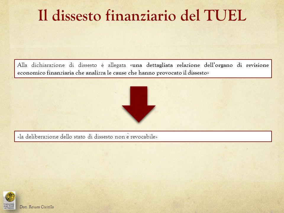 Il dissesto finanziario del TUEL