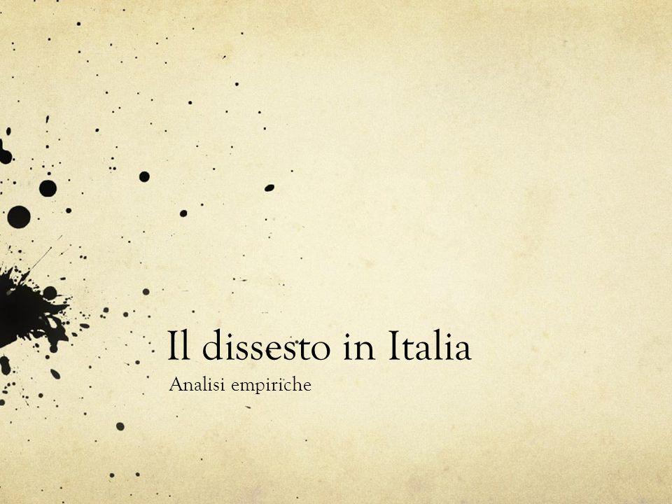 Il dissesto in Italia Analisi empiriche
