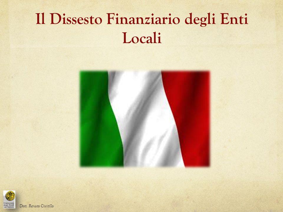Il Dissesto Finanziario degli Enti Locali