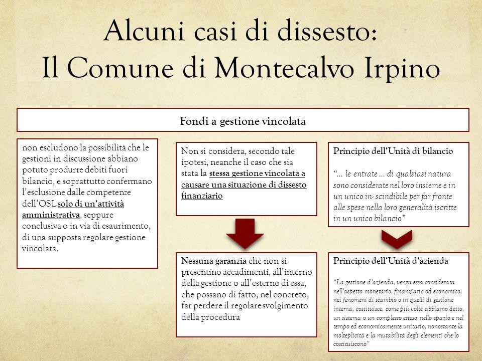 Alcuni casi di dissesto: Il Comune di Montecalvo Irpino