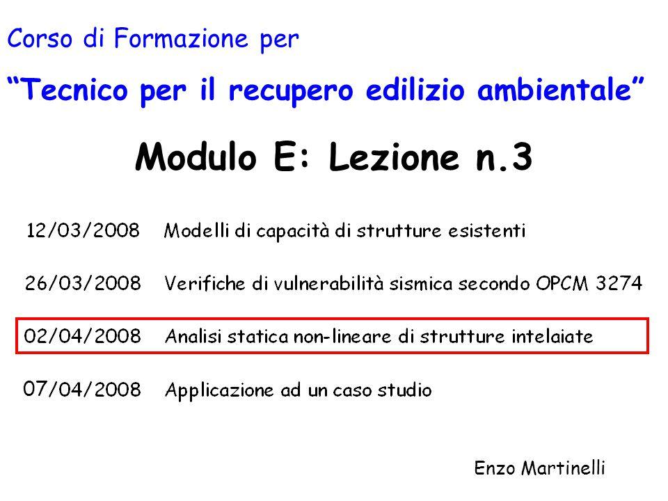 Modulo E: Lezione n.3 Tecnico per il recupero edilizio ambientale