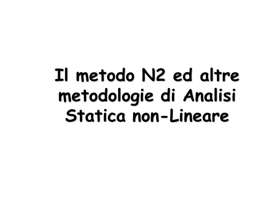 Il metodo N2 ed altre metodologie di Analisi Statica non-Lineare