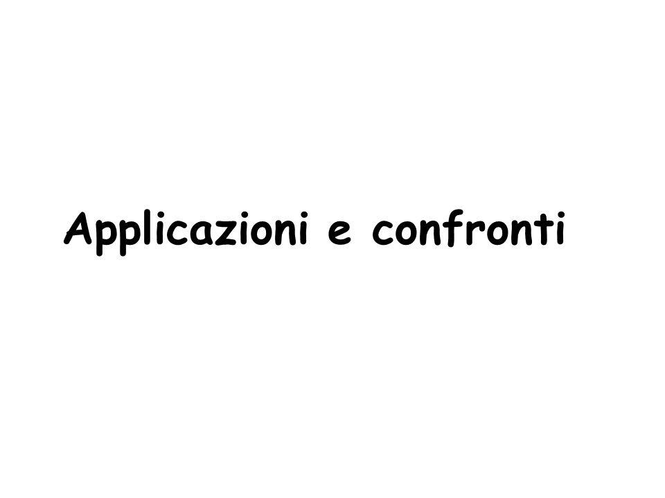 Applicazioni e confronti