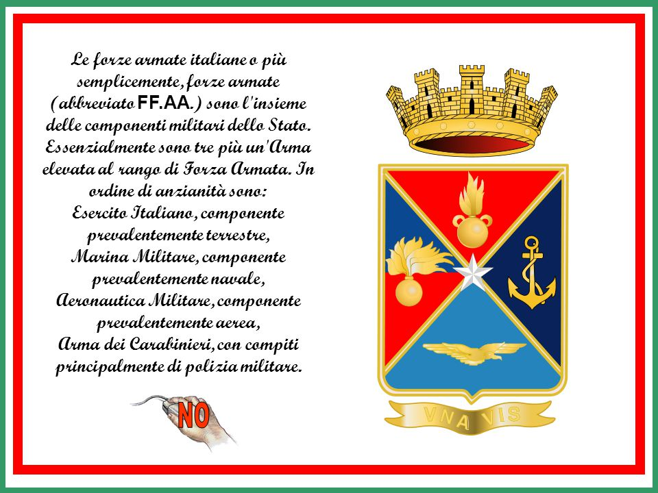Esercito Italiano, componente prevalentemente terrestre,