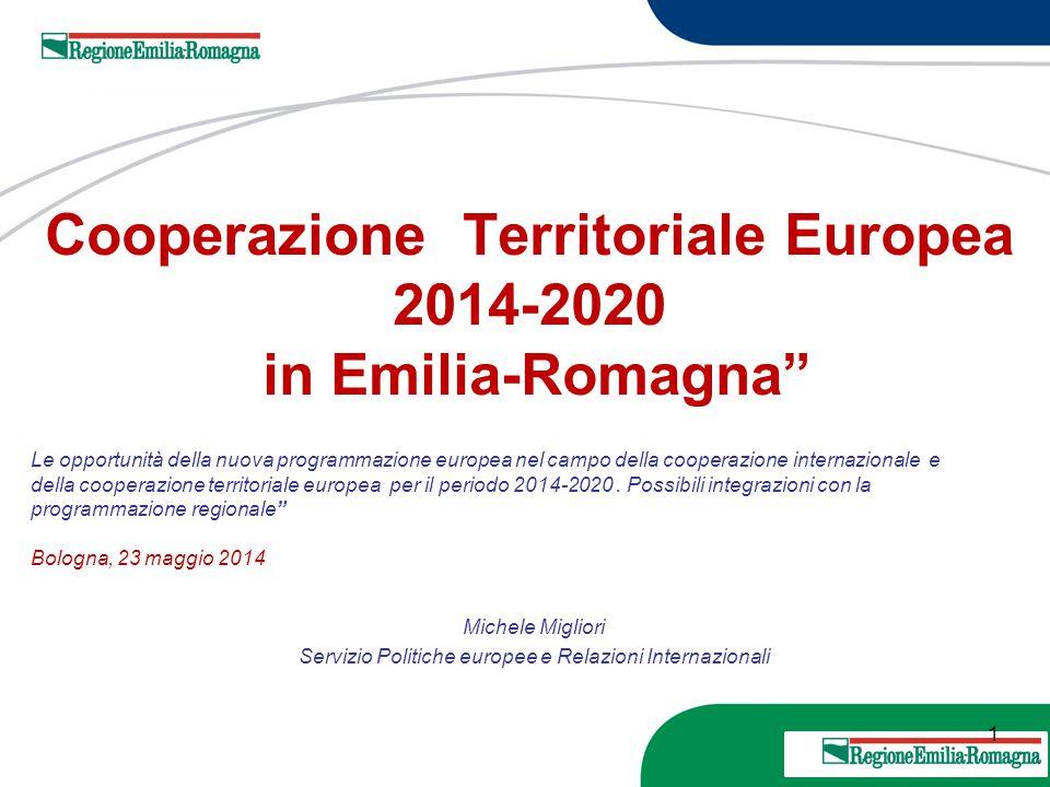 Cooperazione Territoriale Europea 2014-2020 in Emilia-Romagna