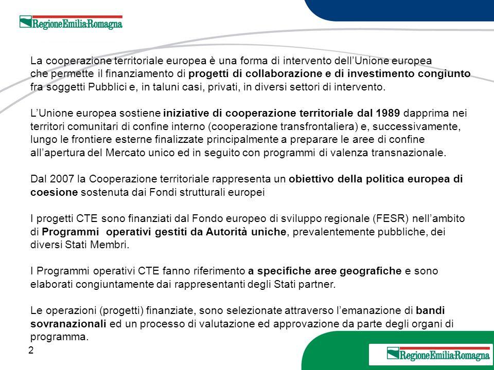 La cooperazione territoriale europea è una forma di intervento dell'Unione europea