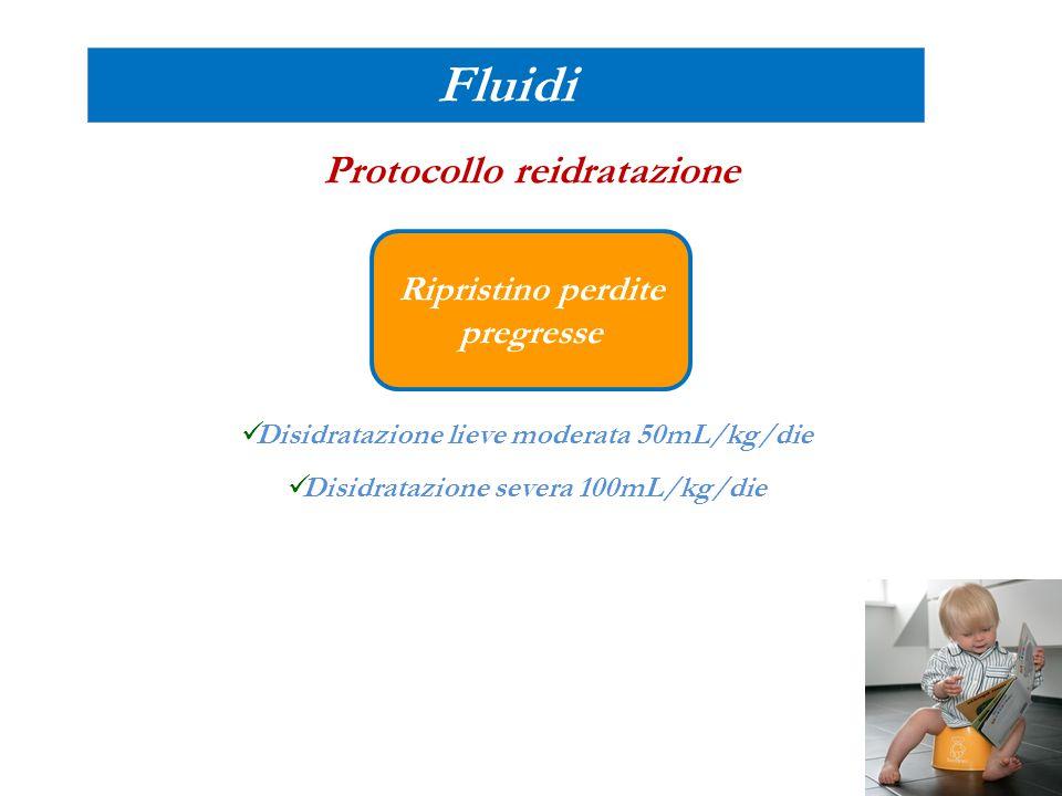 Fluidi Protocollo reidratazione Ripristino perdite pregresse