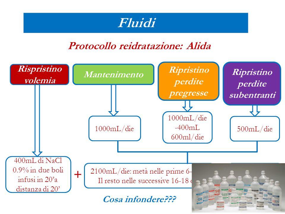 Protocollo reidratazione: Alida Ripristino perdite subentranti