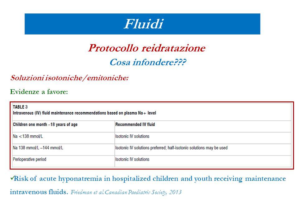 Protocollo reidratazione