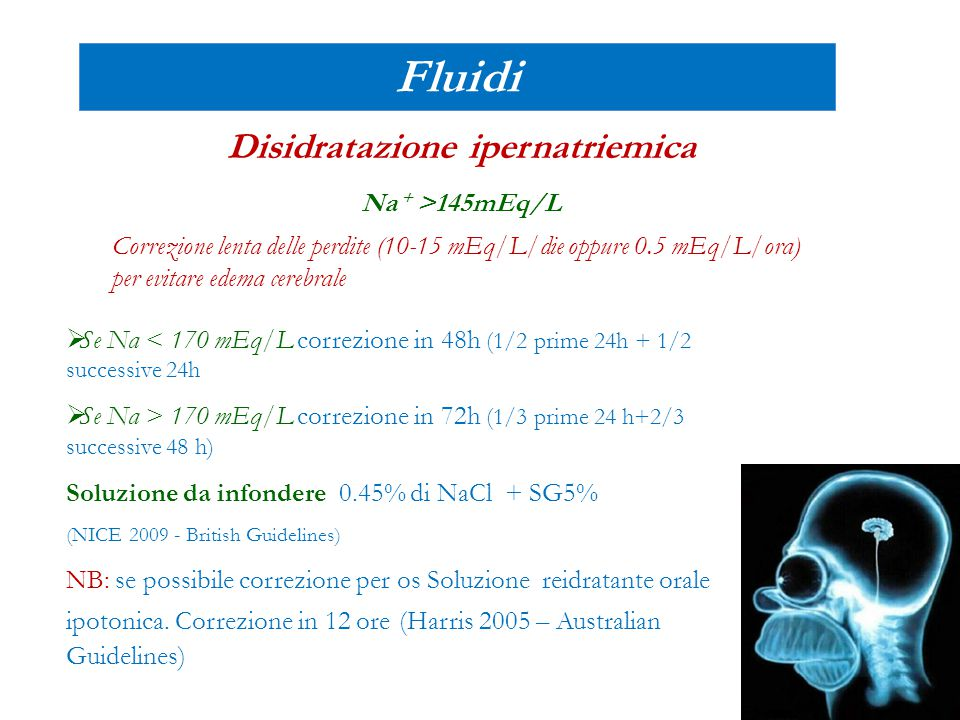 Disidratazione ipernatriemica