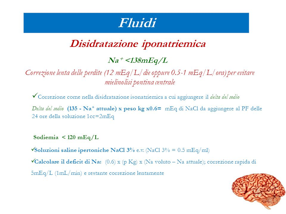 Disidratazione iponatriemica