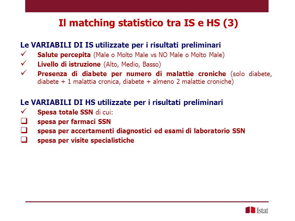 Il matching statistico tra IS e HS (3)