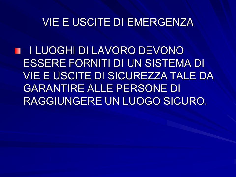 VIE E USCITE DI EMERGENZA
