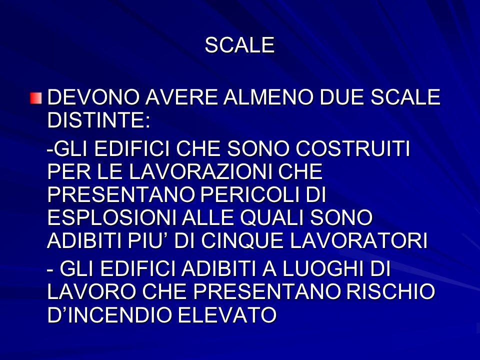 SCALE DEVONO AVERE ALMENO DUE SCALE DISTINTE: