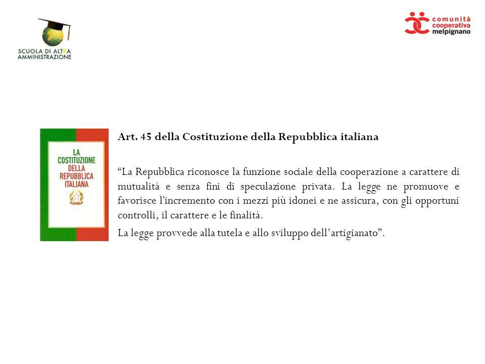 Art. 45 della Costituzione della Repubblica italiana