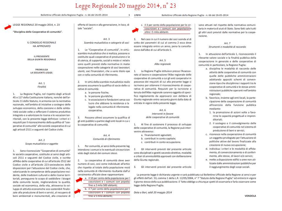 Legge Regionale 20 maggio 2014, n° 23