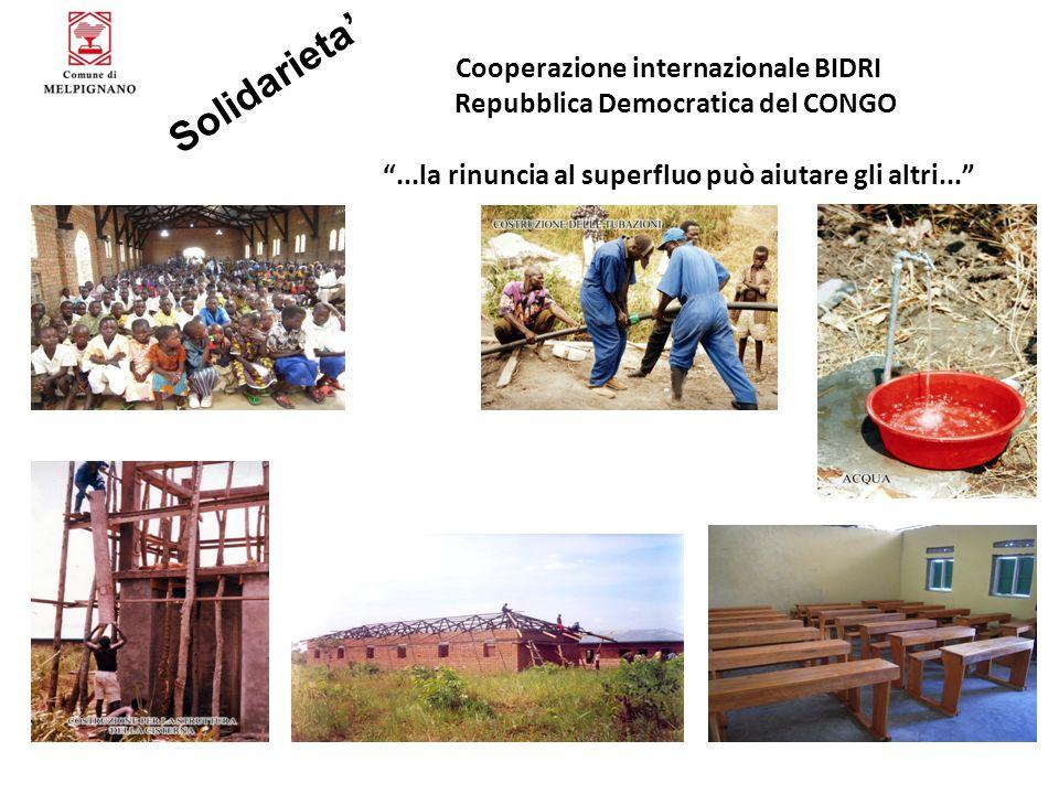 Solidarieta' Cooperazione internazionale BIDRI