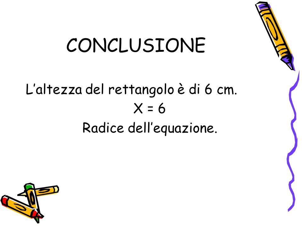 Radice dell'equazione.