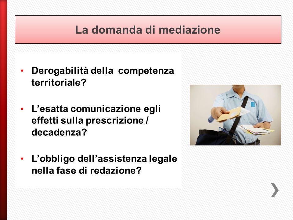 La domanda di mediazione