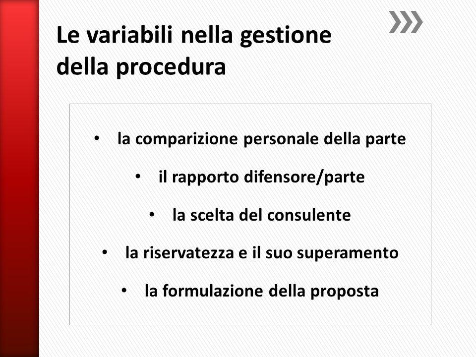 Le variabili nella gestione della procedura