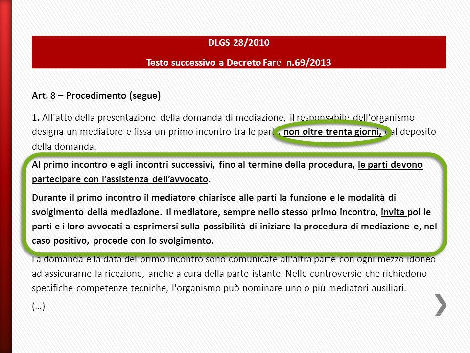 Testo successivo a Decreto Fare n.69/2013