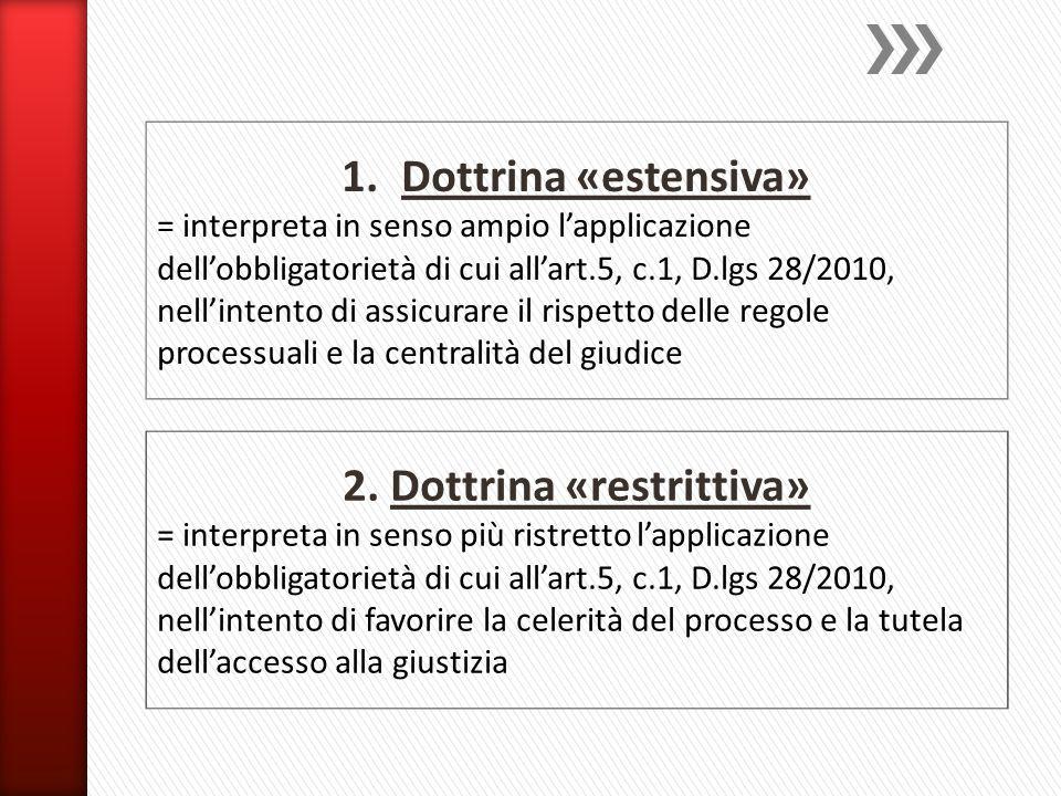 2. Dottrina «restrittiva»