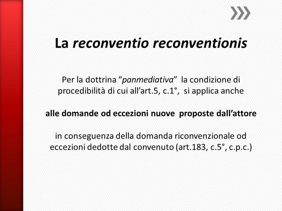 La reconventio reconventionis
