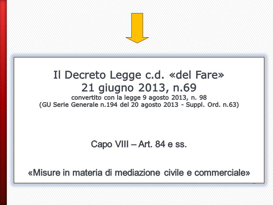 Il Decreto Legge c. d. «del Fare» 21 giugno 2013, n