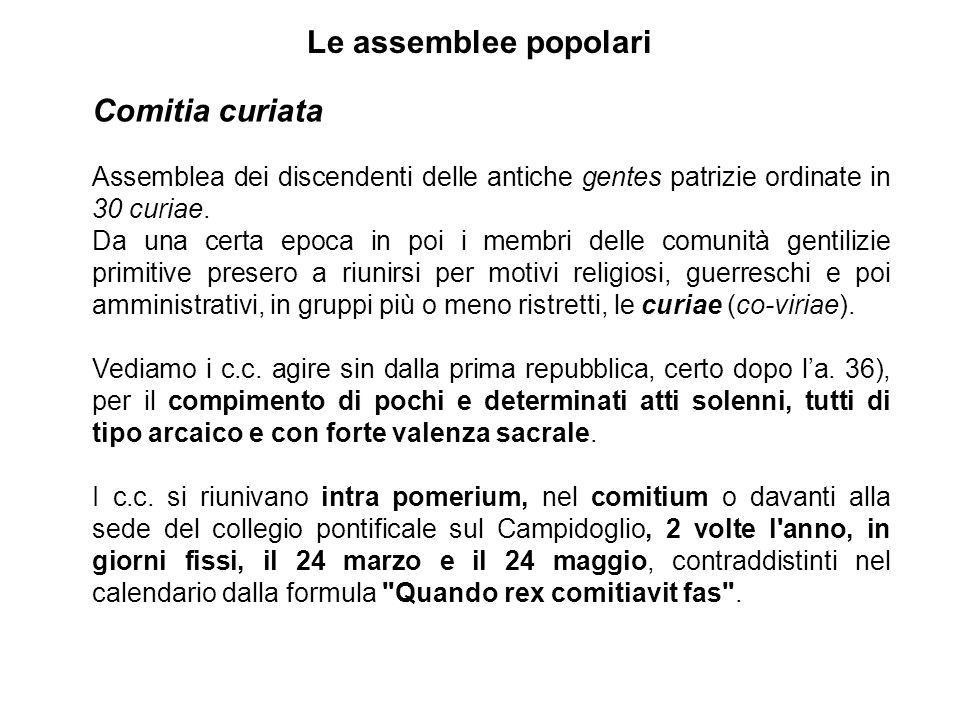 Le assemblee popolari Comitia curiata