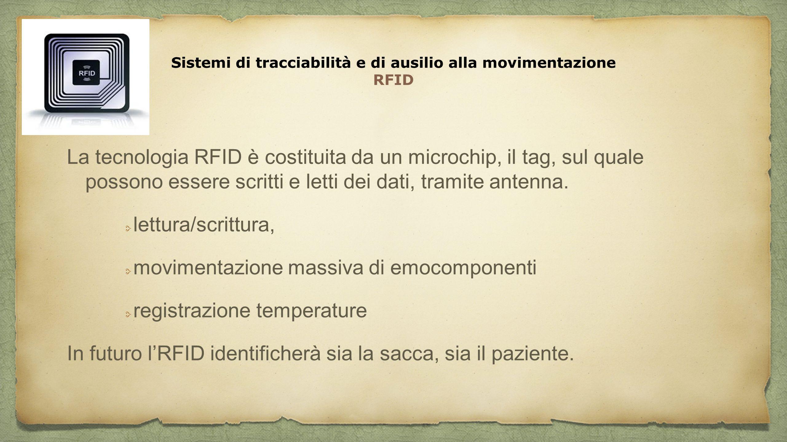 Sistemi di tracciabilità e di ausilio alla movimentazione RFID