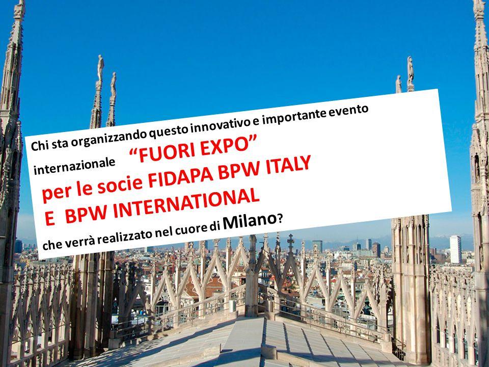 per le socie FIDAPA BPW ITALY E BPW INTERNATIONAL