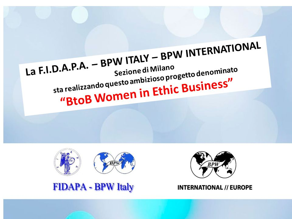 BtoB Women in Ethic Business